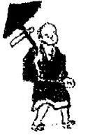 rysunek z ryciny Noshimura postać bonzo