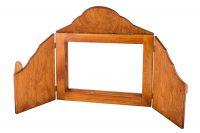 Magiczna skrzynka kamishibai - wersja klasyczna - brązowe, barwione drewno