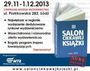 plakat targów książki - Salon Książki Ciekawej Łódź 2013