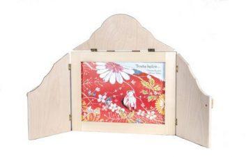 teatrzyk kamishibai - drewniana skrzynka z książką