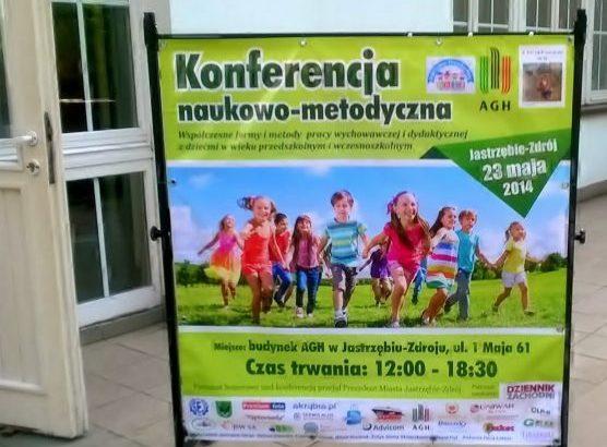 """obraz plakat z konferencji naukowo-metodycznej """"Współczesne formy i metody pracy edukacyjnej z dziećmi w wieku przedszkolnym i wczesnoszkolnym"""""""
