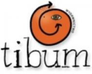 logo Wydawnictwa Tibum, pomaranczowa uśmiechnięt buzia dziwnego stwora